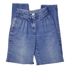 Vintage Jordache High Rise Striped Mom Jeans